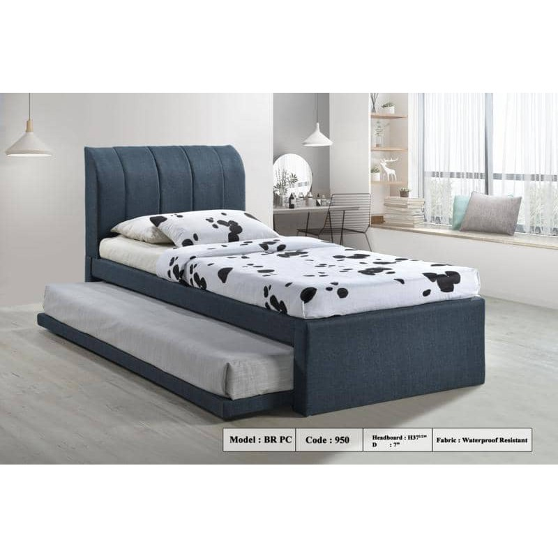 Single FABRIC Divan Bed with Pull Out (Bedframe only)