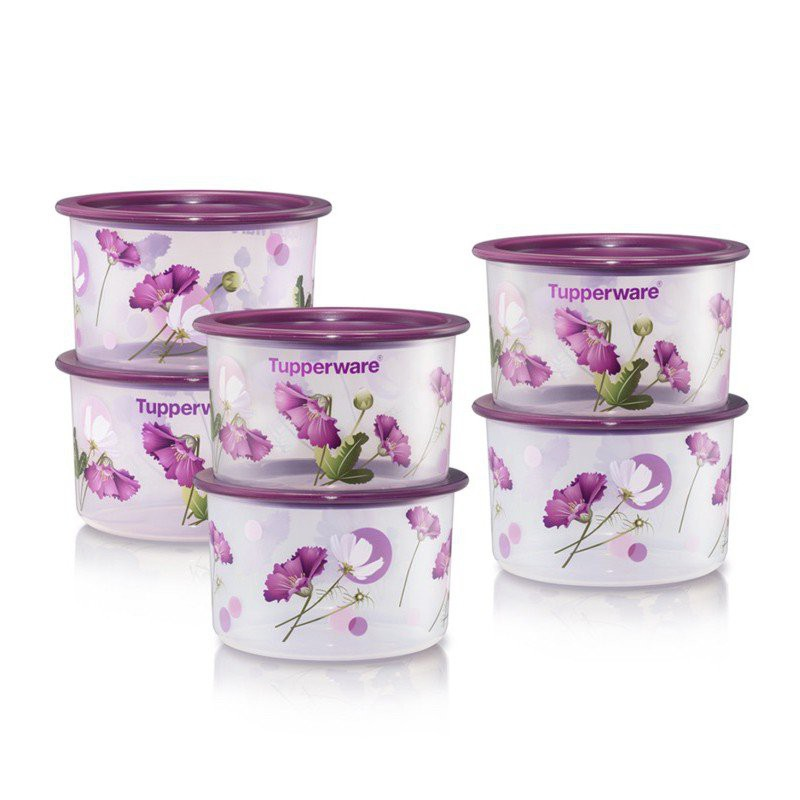Tupperware Royale Bloom One Touch Topper Junior (6) 600ml wLK9