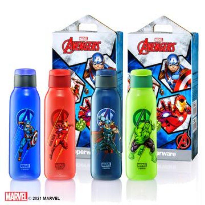 TUPPERWARE Avengers Eco Bottle Set 750ml IronMan Captain America Thor Hulk