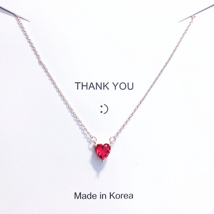Love Heart Shaped Girlfriends Clavicle Chain Personality Exquisite Simple Heart Pendant Cute Necklace Women Shopee Malaysia