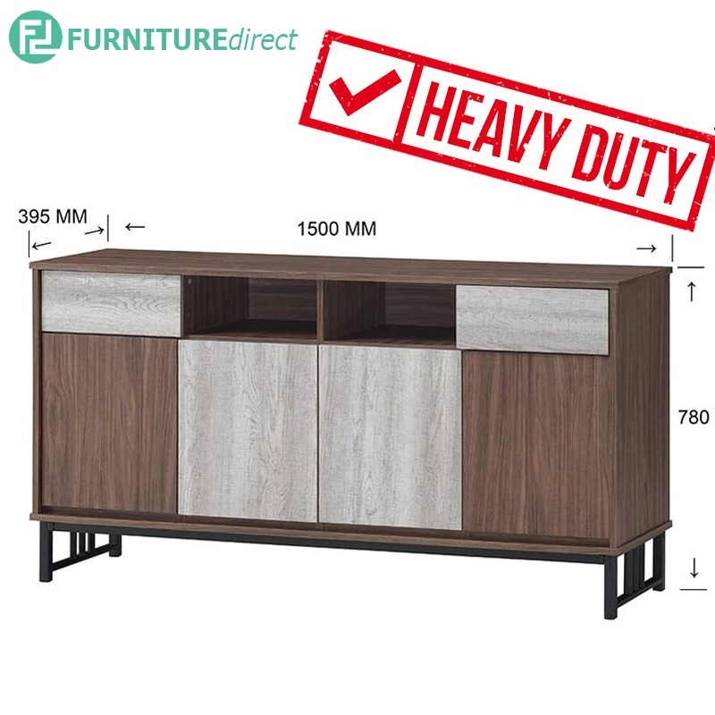 VERA 150cm heavy duty metal frame sideboard