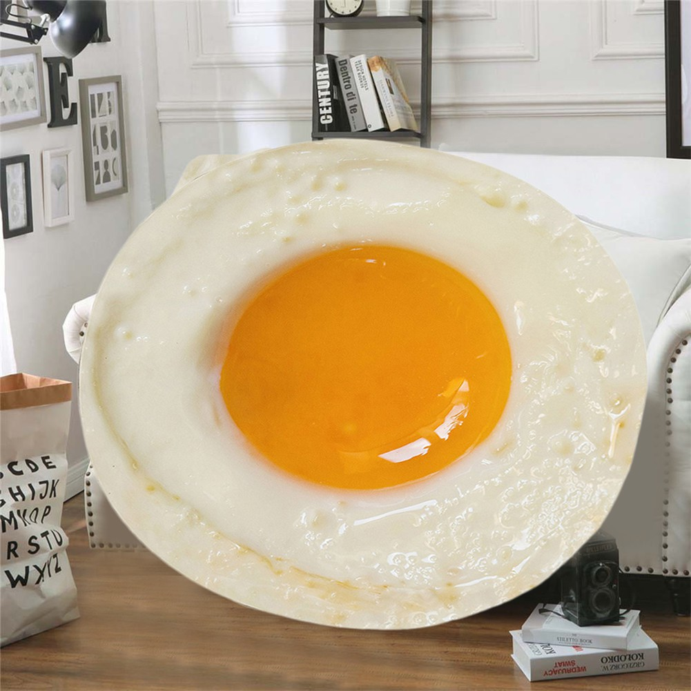 Food Creations Poached egg Novelty Blanket Perfectly Round Tortill Throw