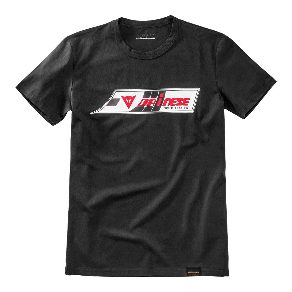 watch 65199 4f1fa Dainese Fashion Casual Men T Shirts Round Neck Shirt Black Cotton Tops