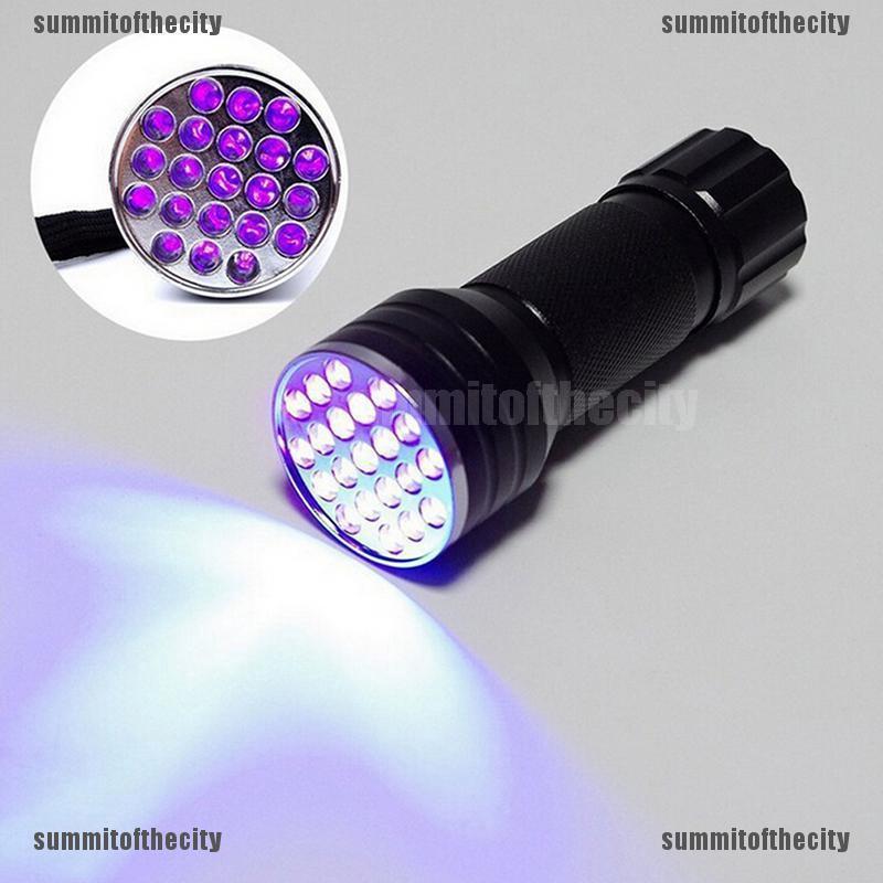 Camping & Hiking Flashlights UV Ultra Violet 21 LED 395nm Flashlight Mini Blacklight Aluminum Torch Lamp Tool Sporting Goods