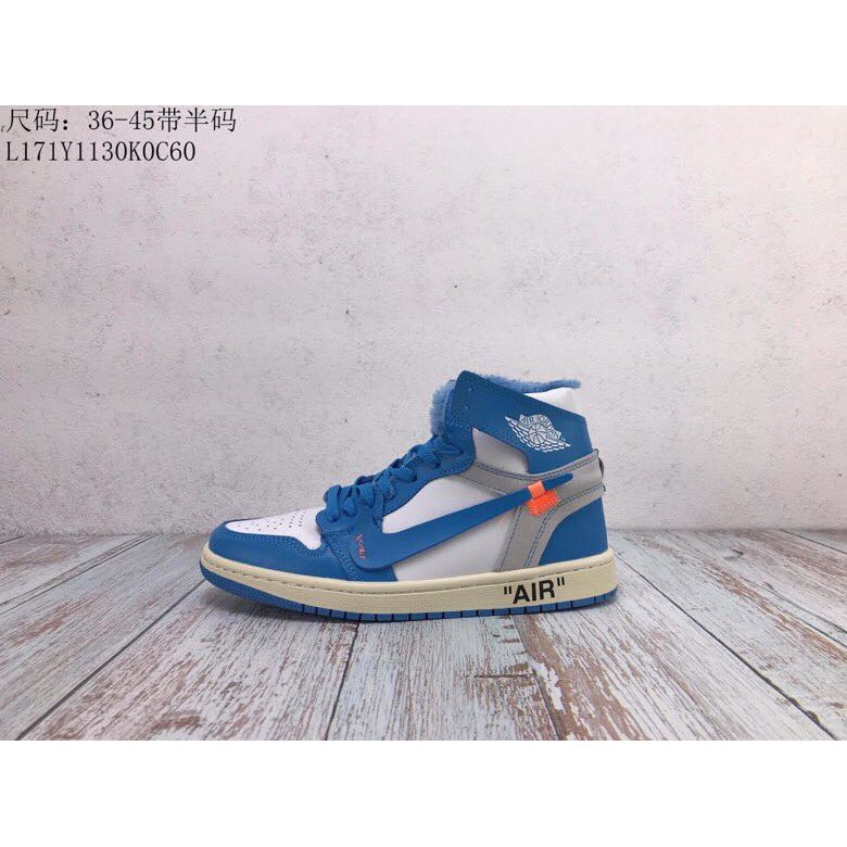 cheaper 9131c 77f23 OFF-WHITE x Nike Air Jordan 1 basketball shoes sneakers casual shoes