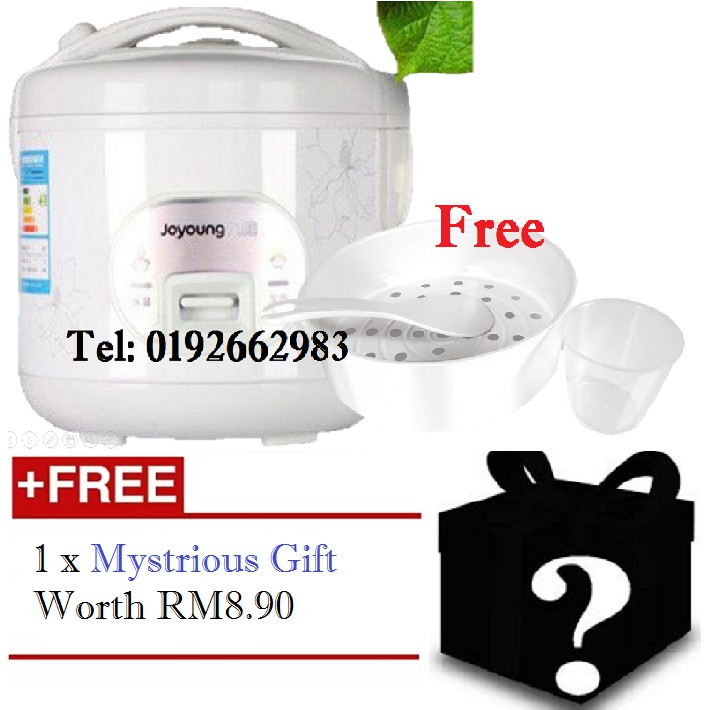 【Malaysia Plug】Joyoung【3L】3000mL Rice cooker Steamer (White)  + FREE Gift