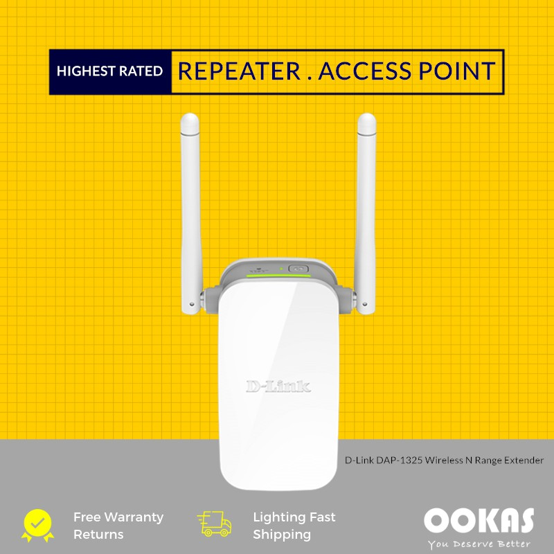 D-LINK DAP-1325 Wireless N WiFi Extender Wireless Repeater with AP Function