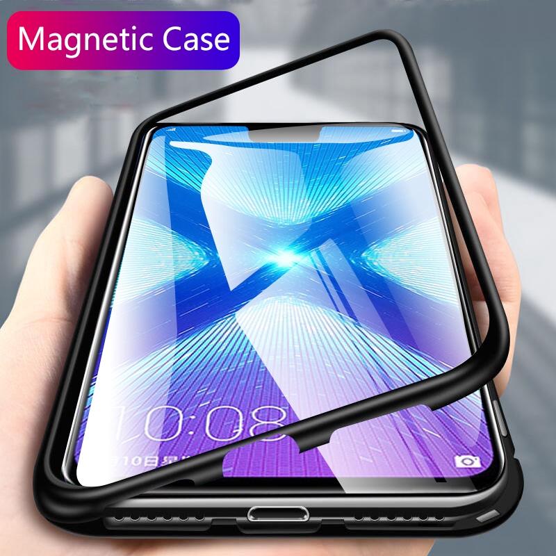 735b61fbaf Huawei Honor 8X Max Luxury Slim Metal Bumper Case Tempered Glass Back Cover  | Shopee Malaysia