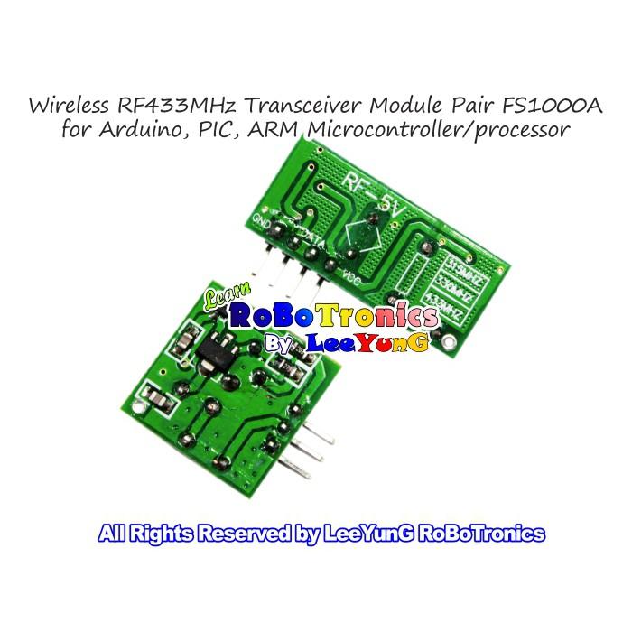Wireless 433MHz 315MHz RF Transmitter Receiver(RX) FS1000A