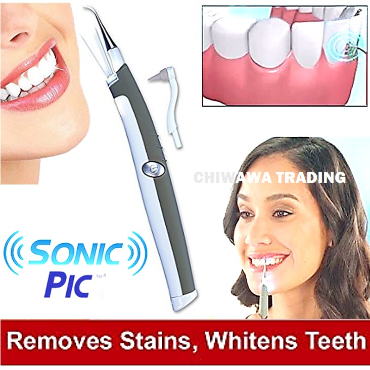 Sonic Pic LED Ultrasonic Tooth Pick Dental Clean Teeth Whitening Gums Scaling Flossing Plaque Tartar Stains Remover