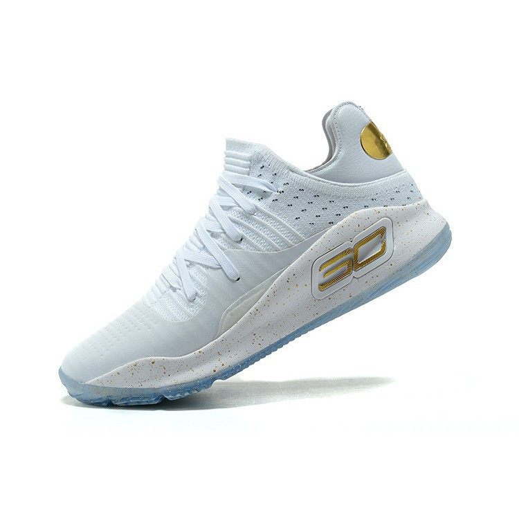 676c4341 Ready Stock 100% Original Girls Under Armour Curry 4 Low White Gold |  Shopee Malaysia