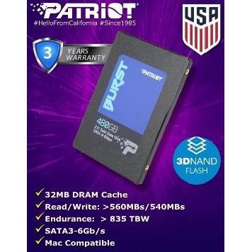 SSD PATRIOT BURST SERIES (120GB, 240GB, 480GB, 960GB)