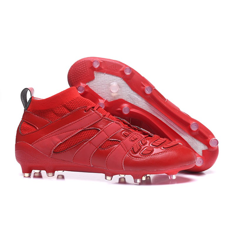 319873b01c123 H320GY adidas Predator Accelerator FG Beckham Capsule Collection 2 full red  soccer shoes