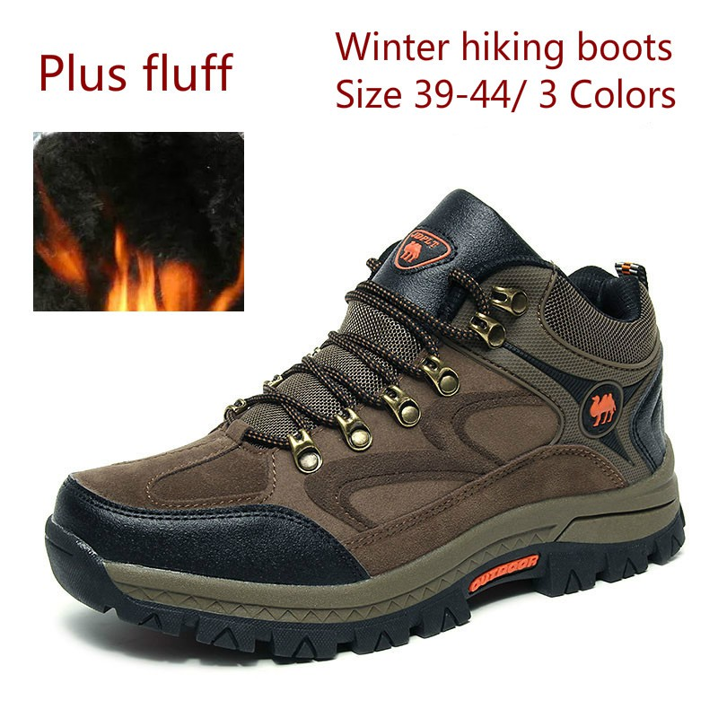 6cdf26d470c plus fluff casual footwear waterproof men winter boots snow outdoor hiking  boots
