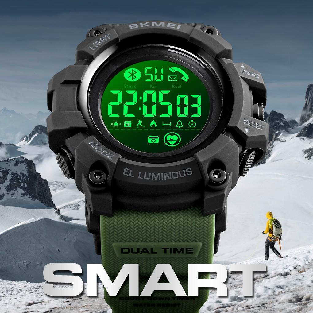 SKMEI 1643 Heart Rate Men Sport Smart Watch Waterproof Support APP [Hmate]