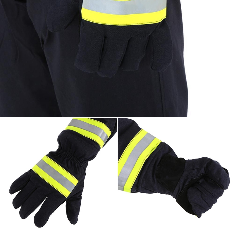 *Pair Fire Protective Glove Fire Heat Proof New Flame-retardant Non-slip*