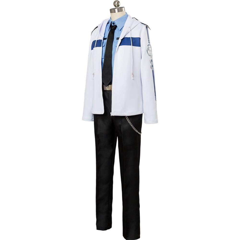 Love and producer Bai Qi Cos Suits White Jacket Black Pants Cosplay Costume