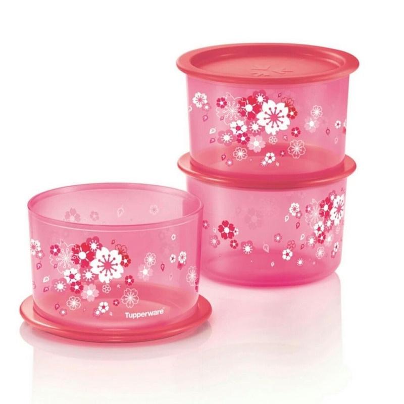 Sakura One Touch Tupperware Airtight Canister Jar Container Food Storage Organizer Bekas Kedap Udara Balang Kuih Raya