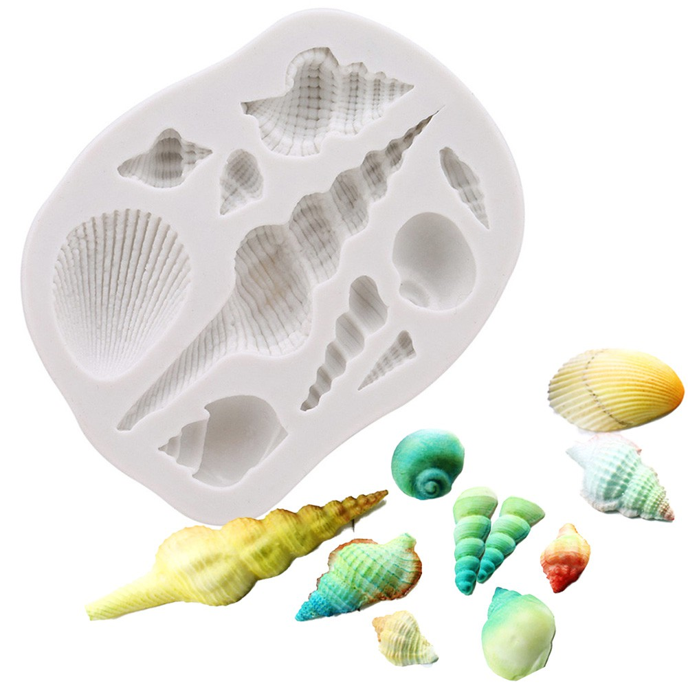 "/""Seashell/"" silicone mold for soap and candles making mould molds sea shell"