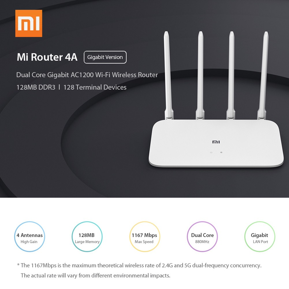 Xiaomi Mi Router 4A Gigabit Version 2 4/5GHz WiFi Repeater Network Extender