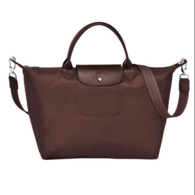 [AUTHENTIC] Longchamp Le Pliage Neo Top Handle Bag – Medium/Brown for Women