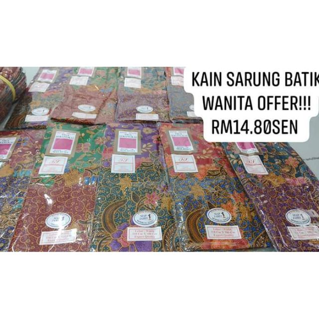 KAIN SARUNG BATIK WANITA offer (goodQuality)  500aeb662d