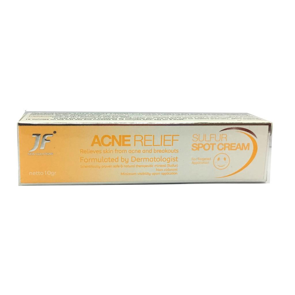 JF Acne Relief Sulfur Spot Cream Anti Acne Treatment 10g