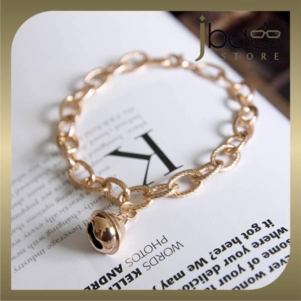 Bell Bracelet Bangle 18k Rose Gold Plated Titanium Steel Bracelets Birthday Gift