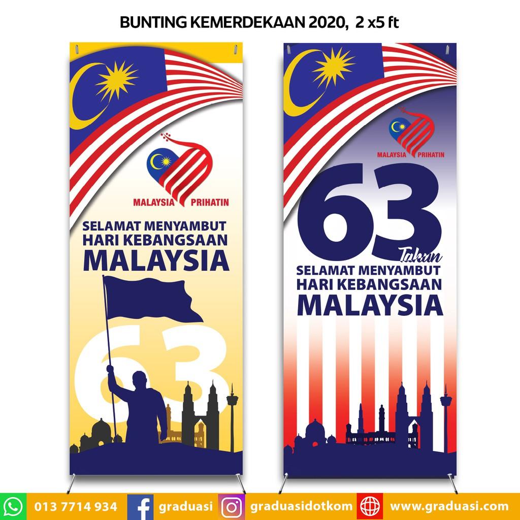 Bunting Sambutan Hari Kebangsaan Kemerdekaan 2020 Malaysia Prihatin 2 X 5 Ft Shopee Malaysia