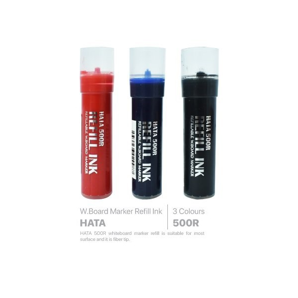 Hata 500R Refillable Whiteboard Board Marker Ink Refill Black / Blue / Red 3.8G