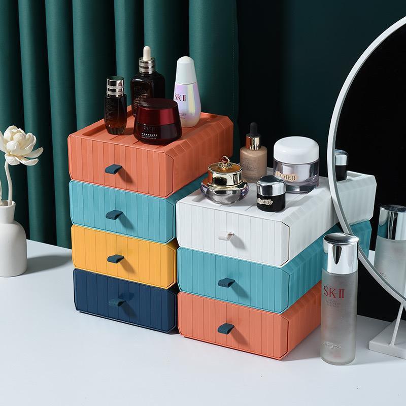 Mix & Match Premium Storage Drawer Box Desktop Table Shelf Stackable Office Desk Storage Box