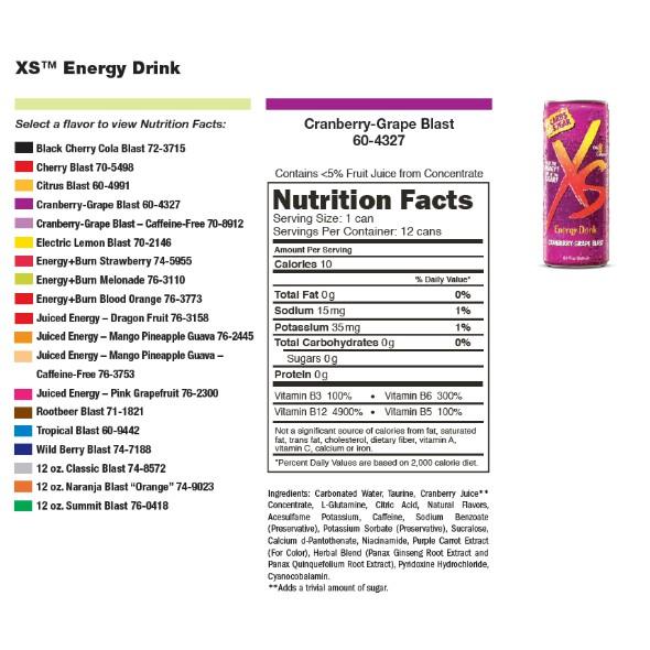 XS Energy Drink Citrus Blast (4 packs
