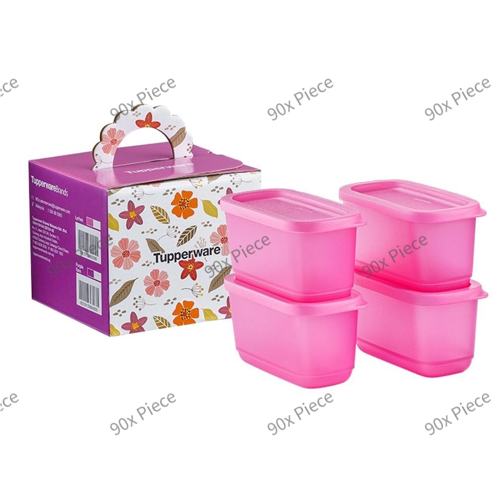 🔥Ready Stock🔥 Tupperware Sweet Trinkets Gift Set (4) 250ml Purple / Pink
