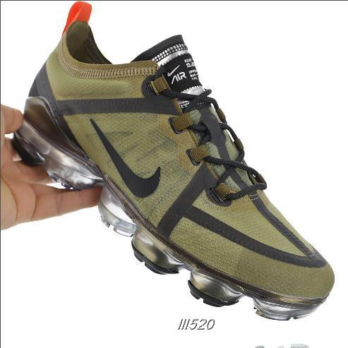 quality design 08aeb f2129 Nike Vapormax VM3·2019 Olive Green Breathable Air Cushion Running Shoes