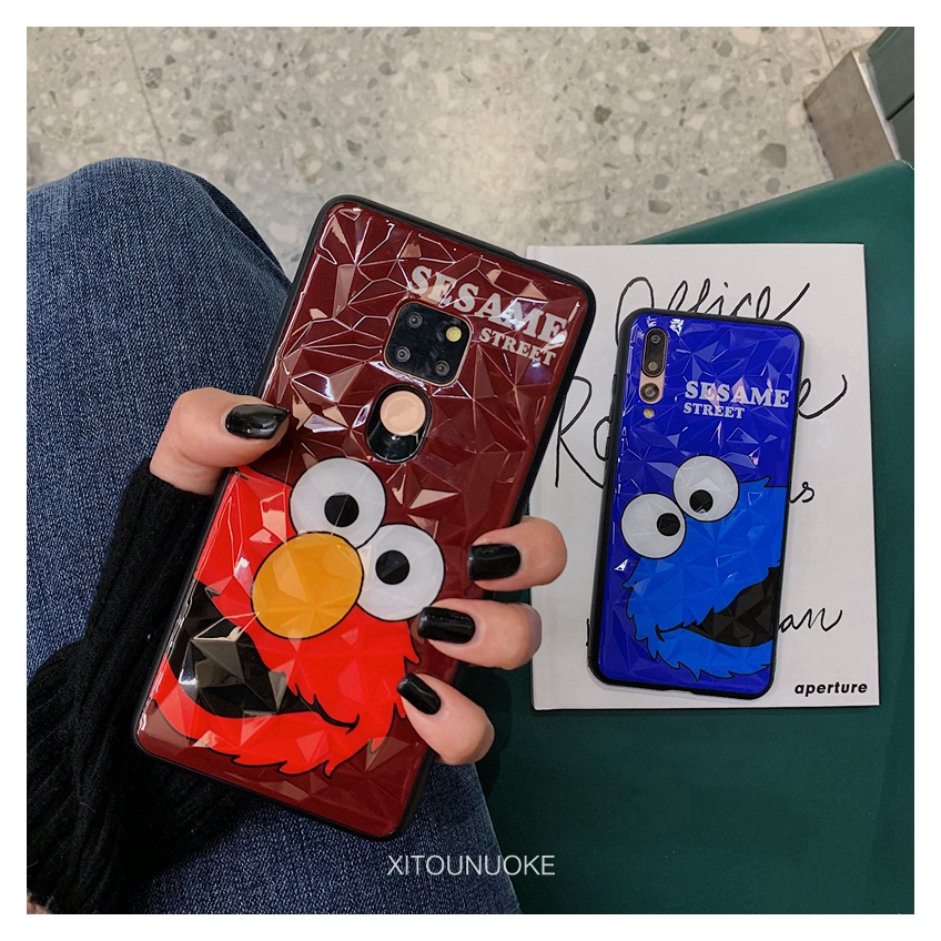 Huawei P20 pro Mate20 pro P30 pro mobile phone shell Sesame Street soft edge