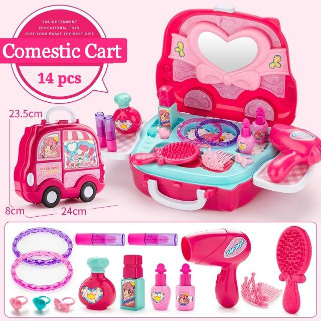 [ READY STOCK ]  Vehicle Model Cosmetics Case Kitchen Play House Toy Hand Travel Lugguge Roller Jualan Murah Baby Mainan