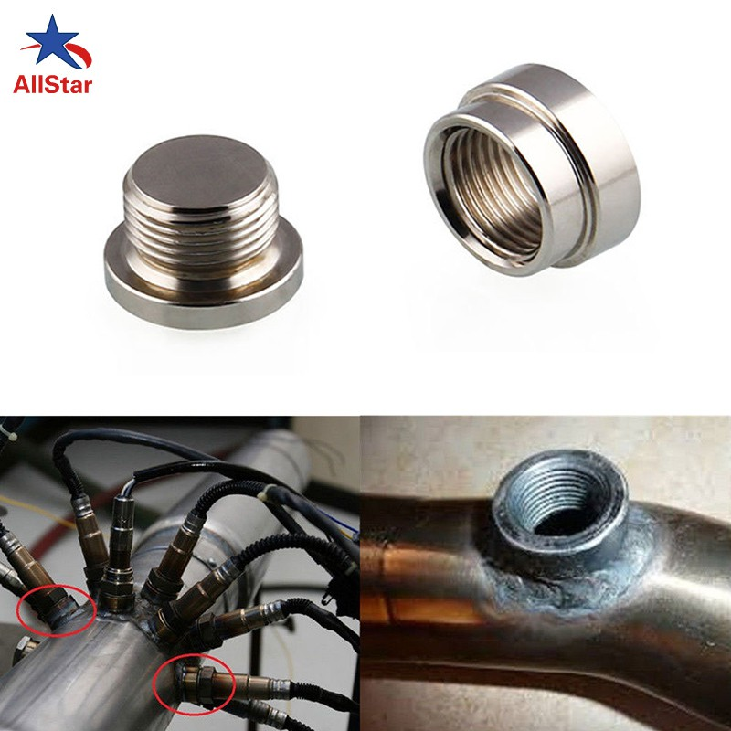 Stainless Steel M18*1.5 Thread Nut Bung Exhaust Pipe Bung O2 02 o2 Oxygen Sensor