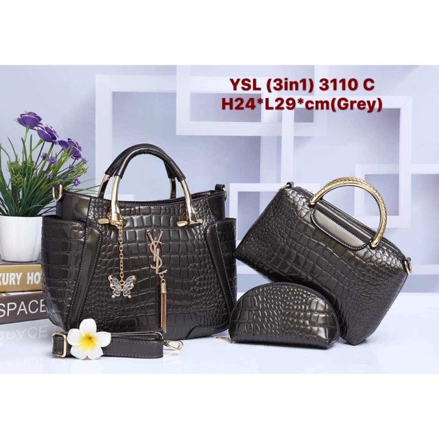 5d8293200a8a Lady Handbag set YSL