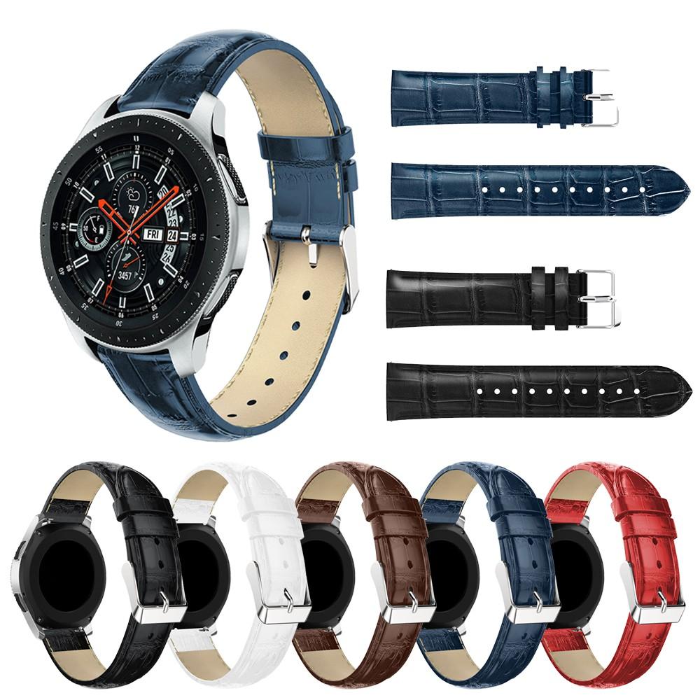[High Quality] Samsung Gear S3 22mm/ Galaxy Watch 46mm Leather Strap 三星男女真皮表带