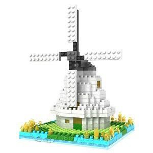 Mini Diamond Architecture Building Blocks Windmill