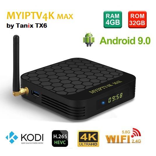 [Free Gift] Myiptv4k Max by Tx6 Tanix 4gb 32gb Android 9 0 Kodi v18  Allwinner H6 Media TV Box