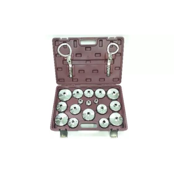 19pcs Aluminium Cap Type Oil Filter Wrench Set