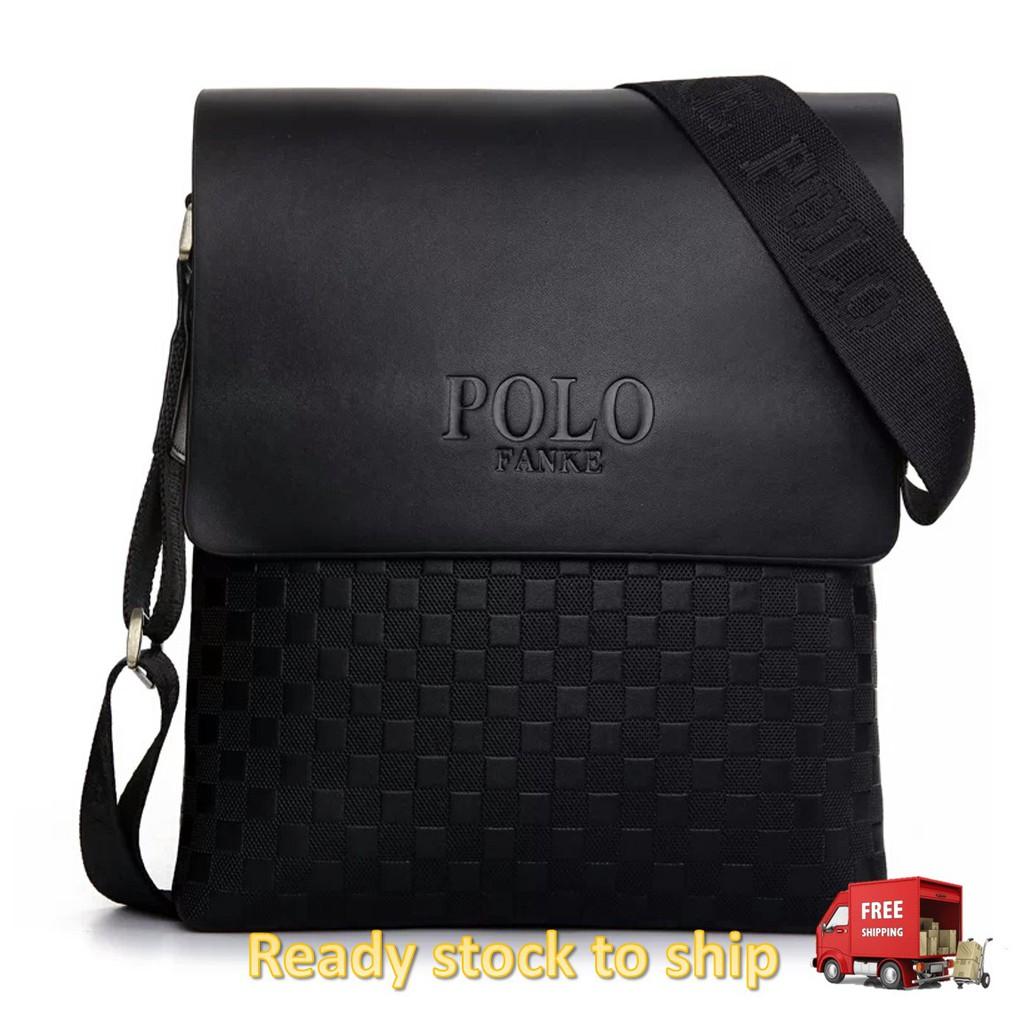 6aa4592ddf9b Polo Fanke Men Genuine Leather PU Shoulder Bag Messenger Bags Handbag  Composite Leather Casual Bag