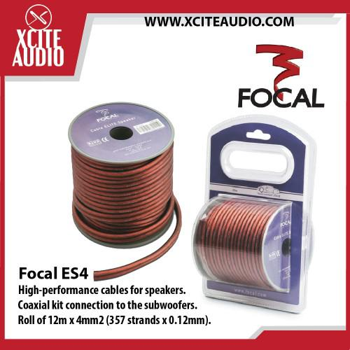 FOCAL ES4 ELITE 100/% OXYGEN FREE COPPER HIGH PERFORMANCE COMPONENT SPEAKER WIRE