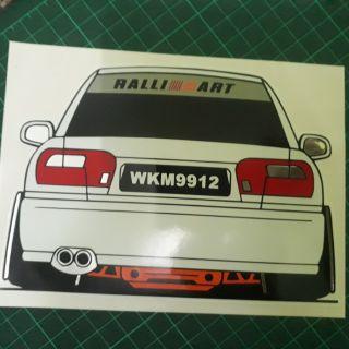 Gambar Kereta Versi Kartun Sticker Kereta Wira 3 Layer Shopee Malaysia