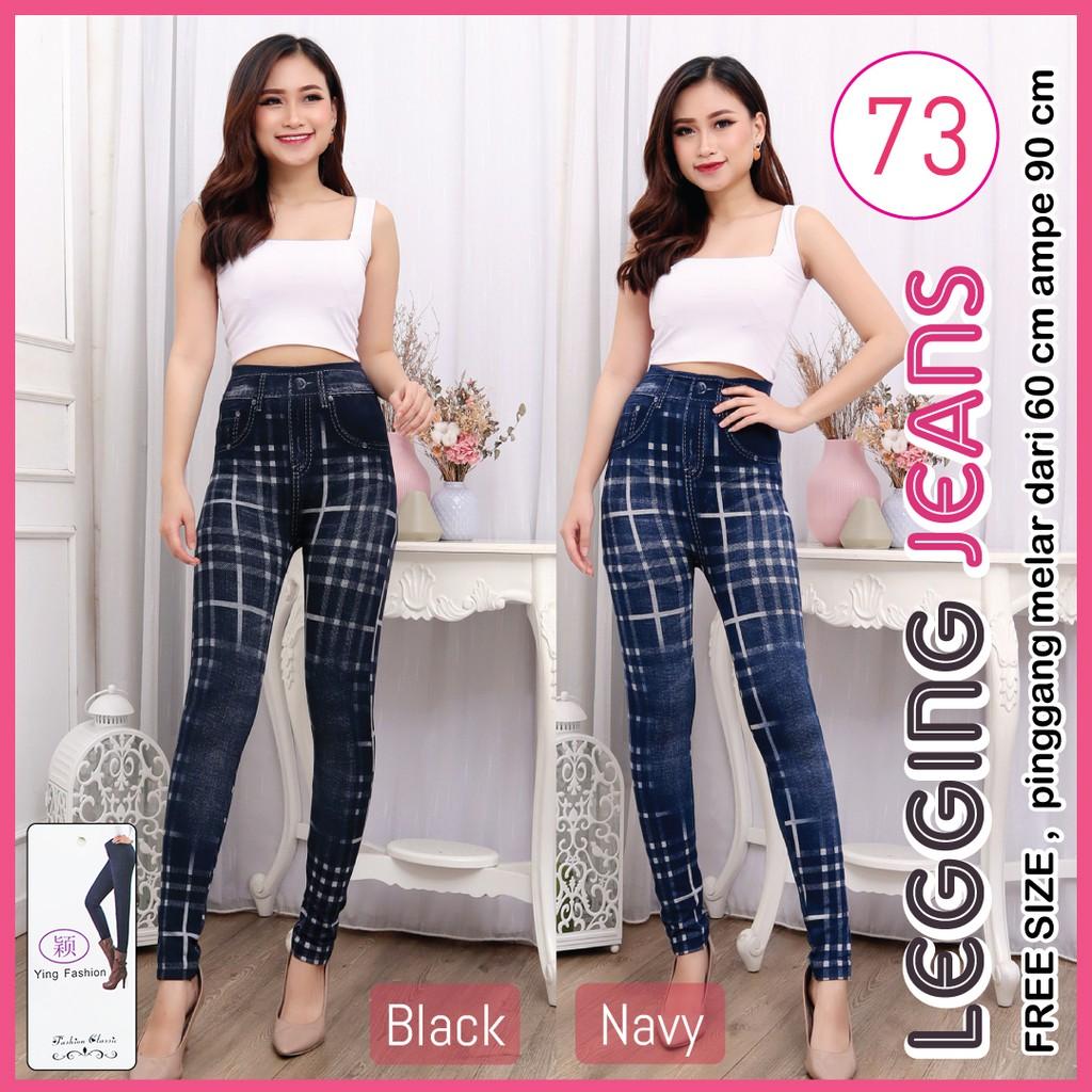 Legging Jeans 73 Celana Legging Jeans Wanita Legging Fashion Wanita Legging Import Premium Shopee Malaysia