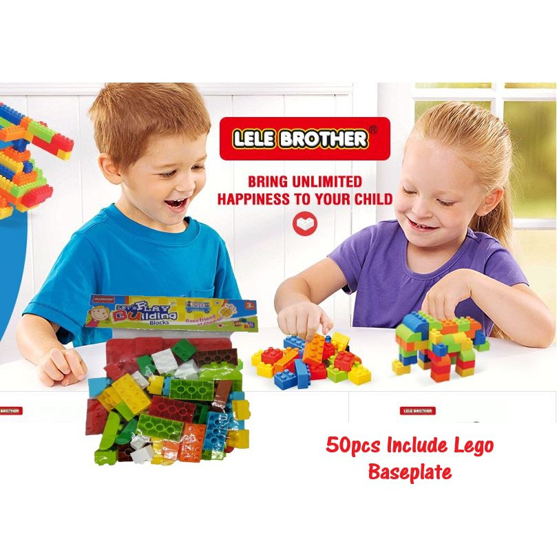 LeLe Brother Building Block Puzzles Education Lego Toys 50pcs include baseplate