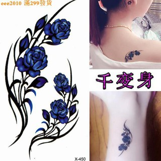 3935f3d066be0 d women small fresh body painted sexy tiger mouth clavicle chest lasting tattoo  stickers X-450 trend