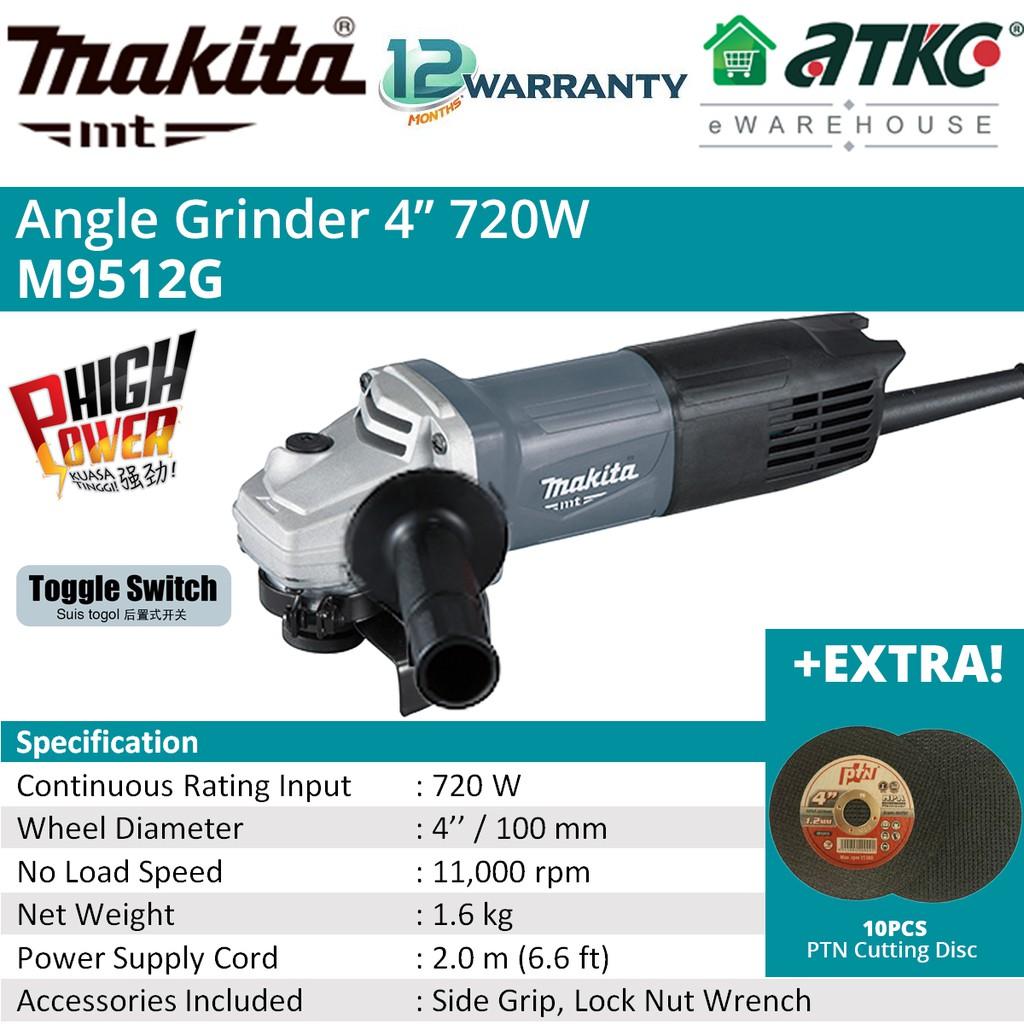 """MAKITA M9512G Angle Grinder 4"""" 720W"""