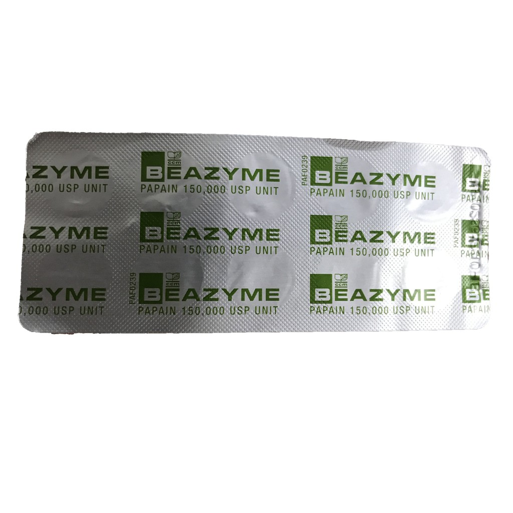 Beazyme(PAPAIN) 10 TABLET/STRIP (1 OR 3 OR 5 STRIPS)